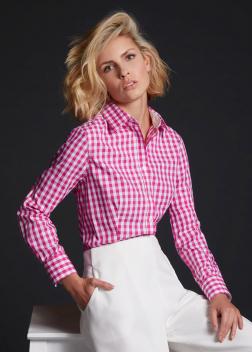 JN616 Рубашка женская в клетку