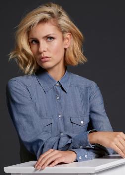 JN628 Рубашка женская джинсовая