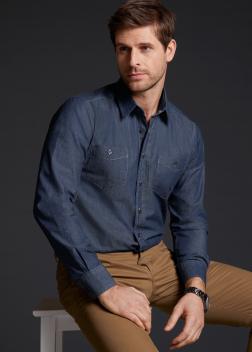 JN629 Рубашка мужская джинсовая