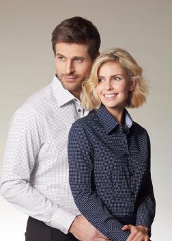 "JN674 Рубашка мужская «Dots"""