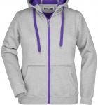 Серый меланж/Фиолетовый
