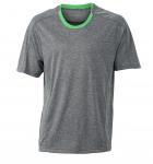 Серый меланж/Зеленый
